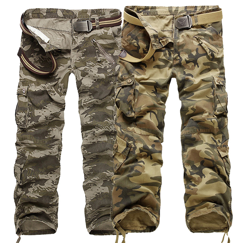 New 2018 Mens Water Wave Camouflage Casual Fashion Good Quality Men's Trousers Spring Army Military Multi-pockets Pantalon Homme