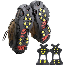 DSstyles Ice Snow Camping Walking Shoes Spike Grip Climbing Ice Crampon Anti-slip Overshoes Spike Grip Winter Outdoor Equipment(China)