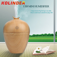 New Wood grain Mini USB Ultrasonic Humidifier For Car Office Silent LED Light Electric Aroma Diffuser Moisturizing Mist Make