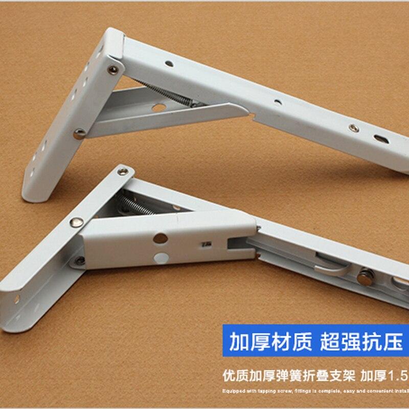 2pcs=1 Pair 20*11*3.2cm cold rolled steel triangle bracket folding shelf bracket Porous folding scaffold shelf support<br><br>Aliexpress