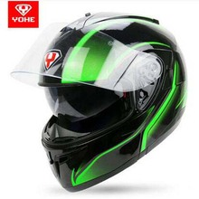 New style YOHE Double lenses Undrape face motorcycle helmets full cover Men open face motorbike helmets Electric safety helmet