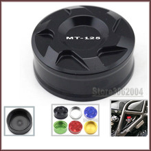 For Yamaha MT125 MT 125 MT-125 2014-2015 Motorcycle Accessories Aluminum Rear Brake Fluid Reservoir Cover Cap Green CNC(China)