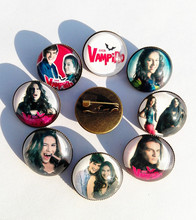 24pcs(Mixed 8 style) The Vampire Diaries Chica Vampiro daisy Glass Hairwear Cartoon Movie Cartoon barrette Nose clip
