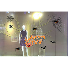 wall sticker   fashionable  Halloween Decorations shopping mall Bar KTV static Window Glass pasteD 17a11