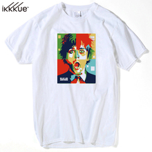 New Punk Music Style Billie Joe Amstrong in WPAP Green Day T shirt Women Shirt Good Quality Comfortable Shirts men Soft Tops