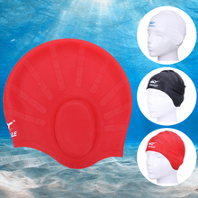 New Swimming Caps Silicone 1pcs Hat For Swimming Adults Waterproof Swimming Hat High Spandex Large Red Black White(China)