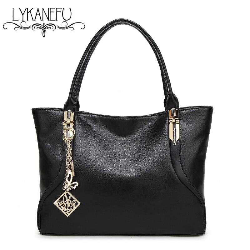 LYKANEFU Brand Fashion Women Shoulder Bags Handbag PU Leather Female Big Tote Bag Ladies Bolsa Feminina Sac Womens Bags<br>