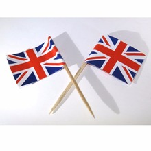 5000pc Great Britain flag tooth pick cake topper 1940s Wedding Victory Vintage Wholesale Cake Decorating Supplies Made to Order(China)
