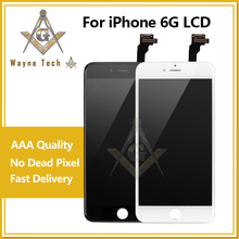 Grade AAA LCD Display Screen Assembly With Cold Glue Frame For iPhone 6 6G Free Shipping DHL(China)