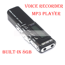 New 8GB Voice Activated Portable Recorder MP3 Player Telephone Audio Recording Digital Voice Recorder Dictaphone