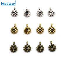 Wholesale 20pcs/lot Big Hole European beads Connectors Flower Metal Clasps & Hooks For Jewelry Making(China)