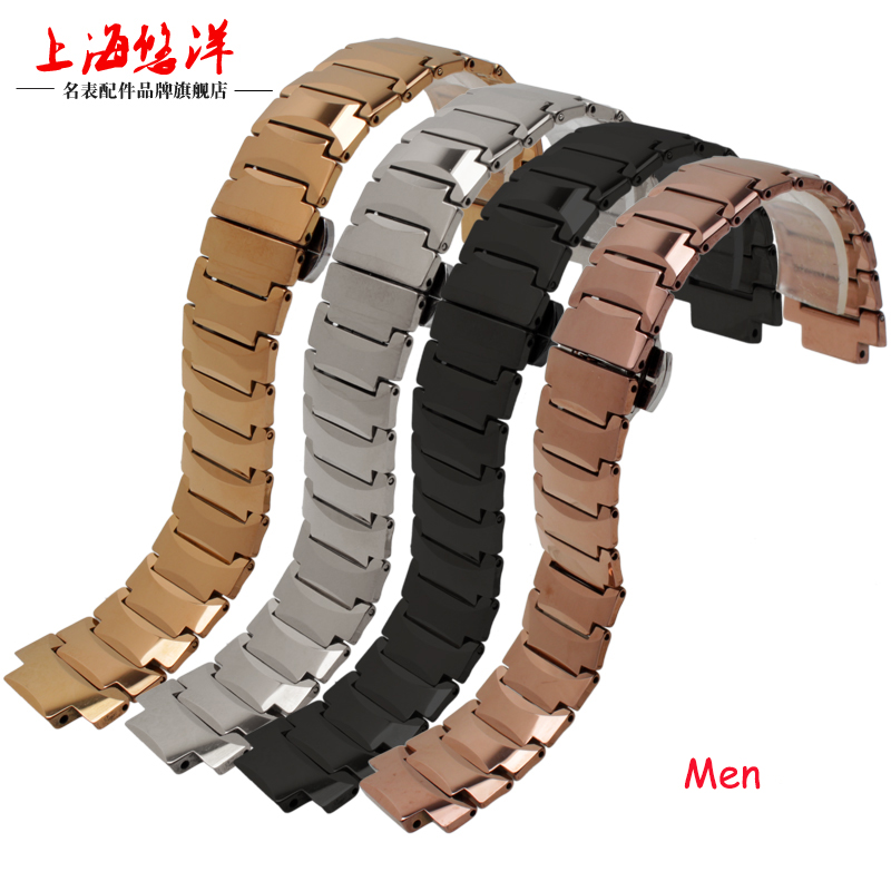 21*12mm 14*7mm Tungsten Steel Convex Mouth Bracelets Push-Button Hiden Clasp Watch Bands for Rado 6021 Man Woman Watch Straps <br>