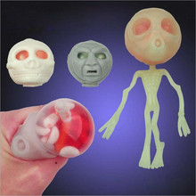 antistress Relieve gadget toys funny gadgets interesting novelty practical jokes prank gift joke Squeeze Luminous Alien(China)
