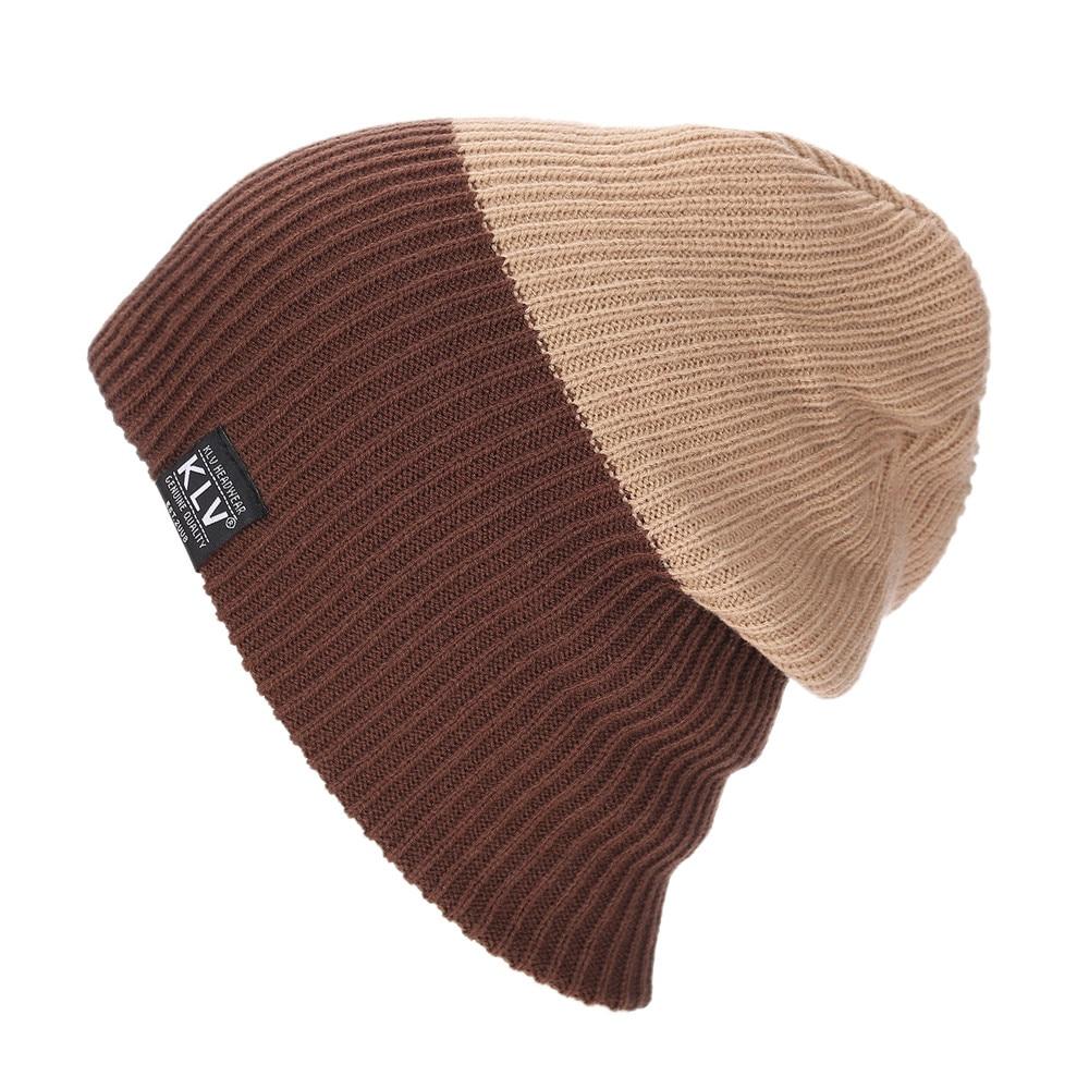 Men Women Contrast Color Baggy Cap Autumn Winter Warm Knitted Wool Beanies Slouchy Hat Unisex Boy Girl Stretchy Skullies Dec8Îäåæäà è àêñåññóàðû<br><br><br>Aliexpress