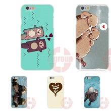 Soft TPU Silicon Mobile Pouch lovely otters holding hands For Xiaomi Note Redmi Note 2 3 4