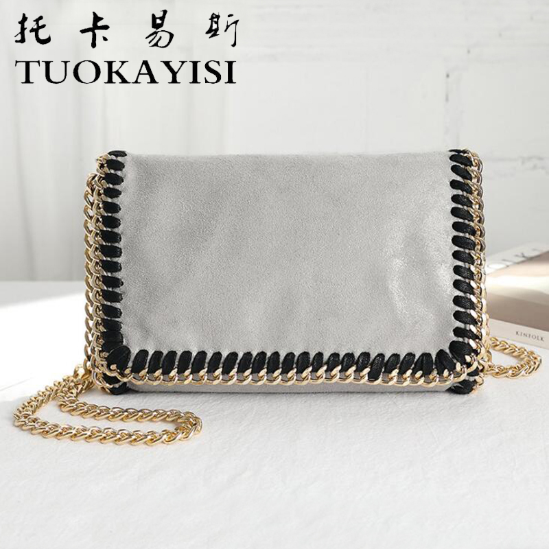 tuokayisi Leather Women Shoulder Bags LUXURY Brand Designer Cowhide genuine leather handbag Gold chain Skin Crossbody bag<br>