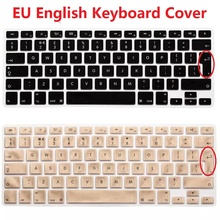 2pcs EU Euro English Keyboard Skin Cover For Macbook Air Pro Retina 13 15 Silicone Laptop Notebook Keyboard Protector For iMac