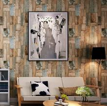 Feature Rustic Nature 3D Effect Wood Paper Wallpaper Vintage Restaurant Coffee Shop Wallpapers Home Decor Background Wall(China)