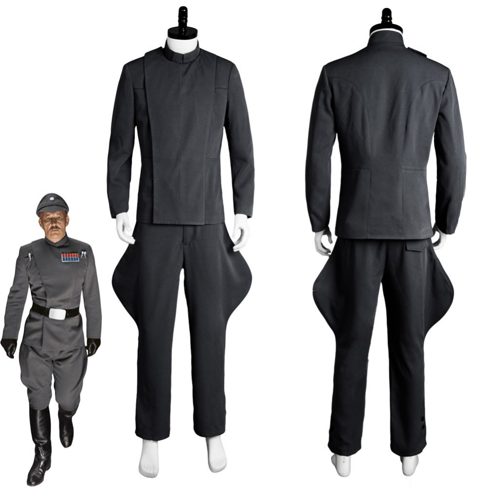 Star Wars Cosplay Imperial Officer Grey Costume Uniform Halloween Carnival Cosplay Costumes