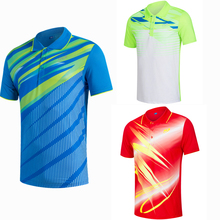 Sportswear Quick Dry breathable badminton shirt Jerseys,Women/Men Volleyball Golf training table tennis clothes POLO T Shirts