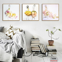 canvas painting posters oil painting wall art oil wall pictures for nordic style kids decoration modular paintings