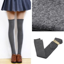 2016 New 5 Colors Fashion Women's Socks Sexy Warm Thigh High Over The Knee Socks Long Cotton Soft Stockings For Girls Women(China)