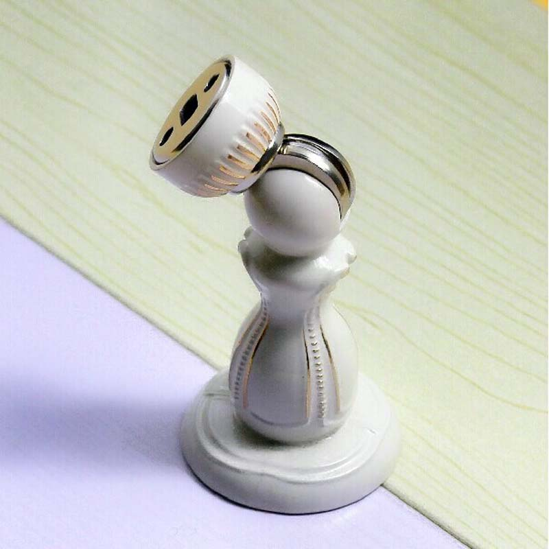 Fashion Europe style zinc alloy door stopper ivory white classical door stops strong magnetism<br><br>Aliexpress
