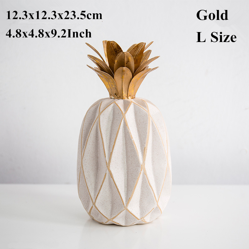 pineapple Figurines -Gold L Size