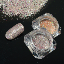 2Bottle/set Light Shining Color Nail Art Glitter Powder Mixed Design Sparkly Flake DIY Nail Art 3D Decoration LABG10,16