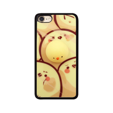 2017 Fashion hot cartoon soft 3d rubber joy doll venting toys sock pinch baby yellow chick cock hen egg mirror case For Iphone(China)