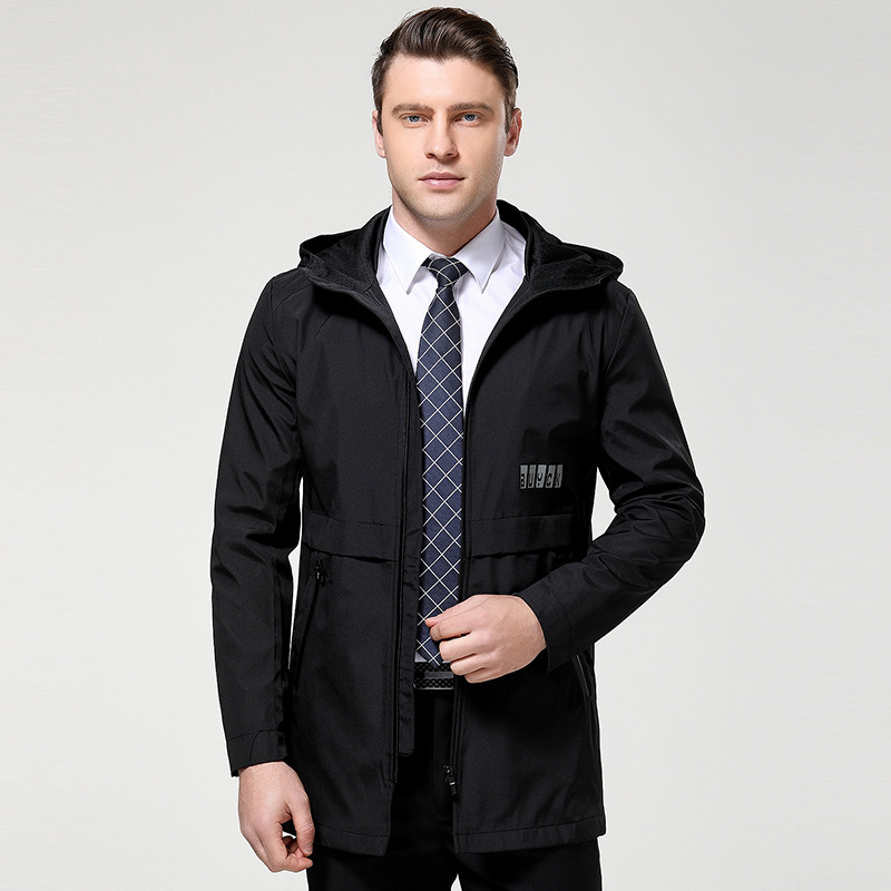 New Trench Coats Men 2019 New Spring Autumn Men's Casual Trench Coat M-XXXL Hooded Windbreakers Male Waterproof Long Jackets Men