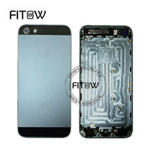 Fitow Brand 100% Warranty Replacement Back Cover Chassis for iphone 5 Housing Battery Door Free Shipping