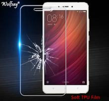 Wolfsay Screen Protector For Xiaomi Redmi 4A Nano Clear Soft TPU Film (Not Tempered Glass) for Xiaomi Redmi 4A Full Cover Film(China)