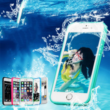 LOVECOM Full Body Waterproof Radiating Shockproof TPU Case Cover For iPhone 6 6S 7 Plus Swimming Phone Case Protector