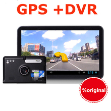 "7"" Car GPS Android Navigation Capacitive Screen Car dvrs Recorder camcorder FM WIFI Truck vehicle gps Built in 8GB Free Map"
