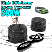 1pair Universal High Efficiency Mini Dome Tweeter Loudspeaker 2x 500W Loud Speaker Super Power Audio Sound Klaxon Tone For Car(China)