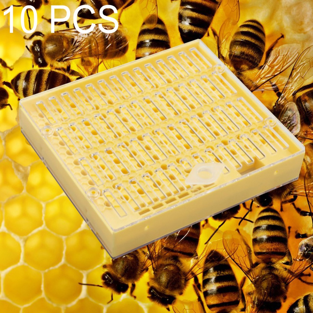 20Pcs//Set Bee Queen Cell Cover Beekeeping Tool Beekeeper Plastic Cage Protect P*