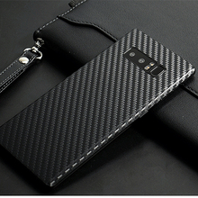 New 3D Carbon Fiber Skins Protective Film Wrap Skin Cellphone back paste Protective Film Sticker For Samsung Galaxy Note 8(China)