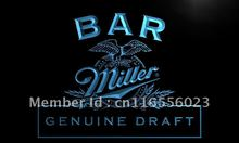 LA424- Bar Miller Beer   LED Neon Light Sign     home decor  crafts