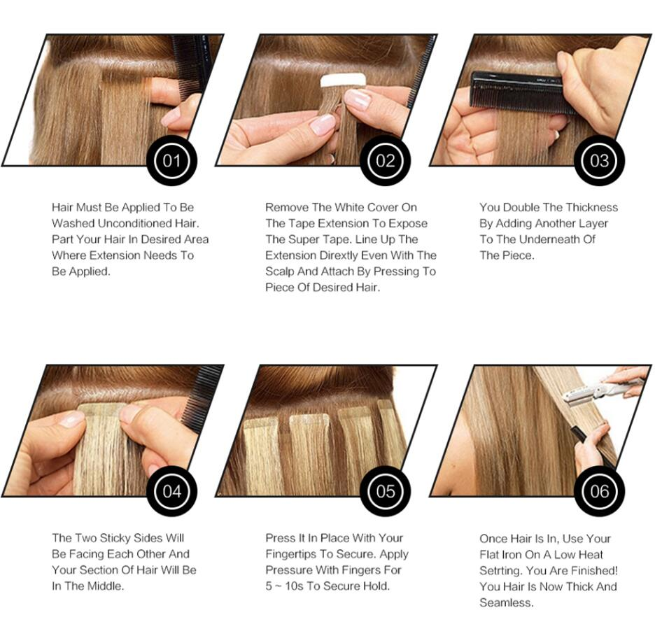 How to wear tape hair