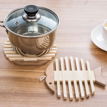 New Arrival Wooden Dining Table Placemats Pot Cup Mat Heat Insulation Kitchen Accessories Decoration Home