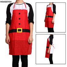 Red Christmas Santa Claus Apron Xmas Pinafore Christmas Decorations for Home Creative Cloth Pinafore Noel Decoration Accessories