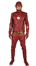 2017 New Arrival Barry Allen Costume The Flash season 4 Cosplay Adult Outfit Classical Hero Costume for Halloween(China)