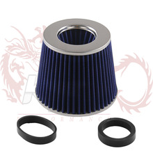 Air Filter Cold Air Intake Filter Cleaner 76mm Dual Funnel Adapter works 76mm Air Intakes Universal