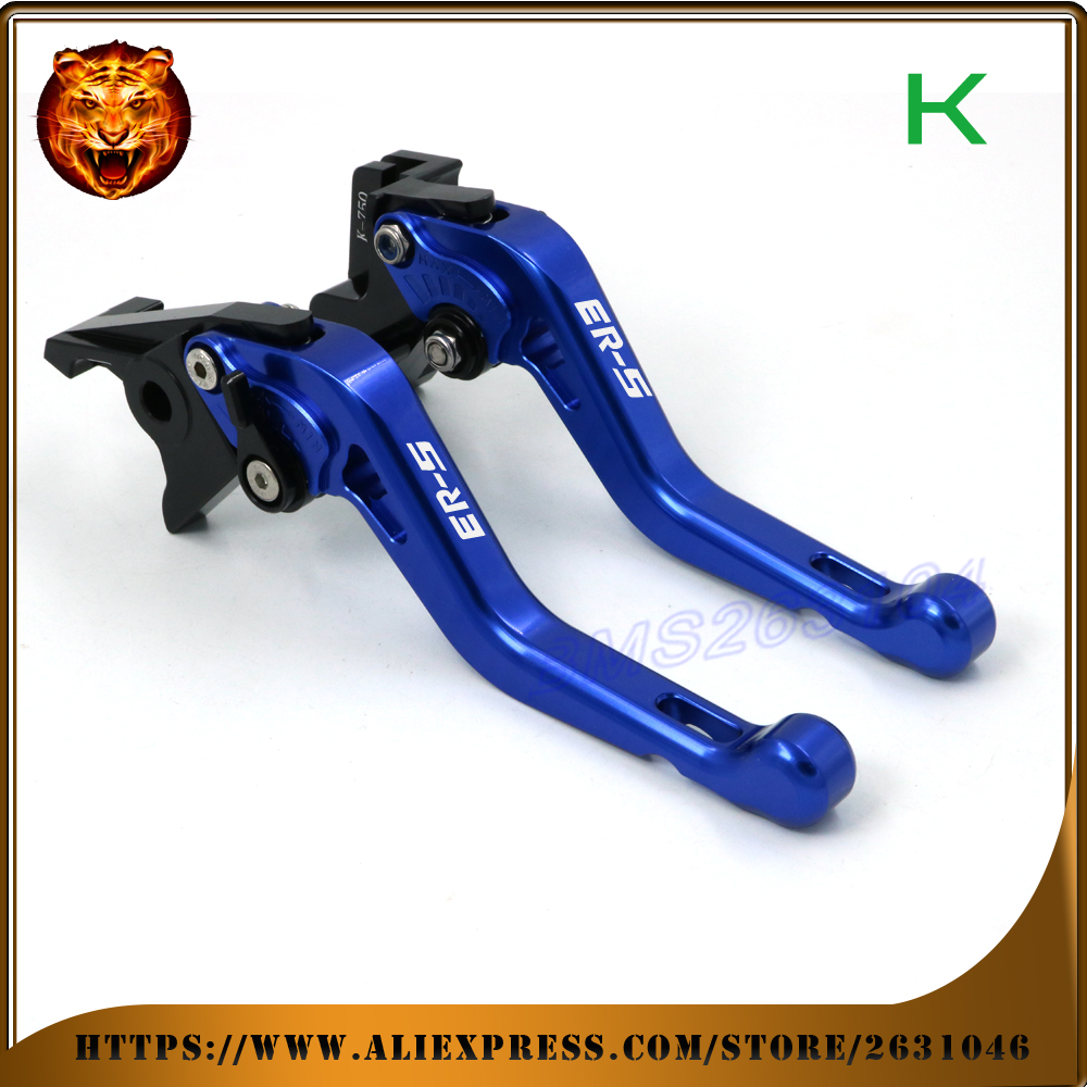 For kawasaki ER-5 ER5 2004 2005 FREE SHIPPING DHL  Motorcycle Accessories  Adjustable Short Brake Clutch Levers<br>