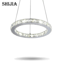 Hot Sale Diamond Single Ring LED Crystal Chandelier Light Modern Pendant Lamp Circles 100% Guarantee Dia20cm