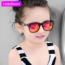 2016 New Fashion Children Sunglasses Boys Girls Kids Baby Child Sun Glasses Goggles UV400 mirror glasses Wholesale Price 1015(China)