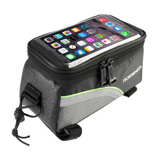 "wholesale ROSWHEEL 4.8"" 5.7""Cycling Bike Bicycle bags panniers Frame Front Tube Bag For Cell Phone MTB Bike Touch Screen Bag"