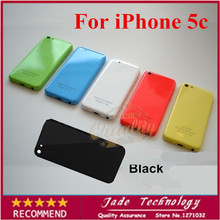 100% original 5 black color Completed Full Back Cover Housing Mid Frame Replacement Assembly For iPhone 5C
