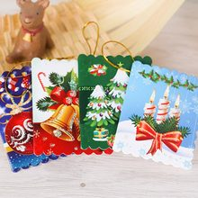 10pcsbag unique christmas greeting cards colorful pattern christmas card message cards tree hanging ornament - Unique Photo Christmas Cards